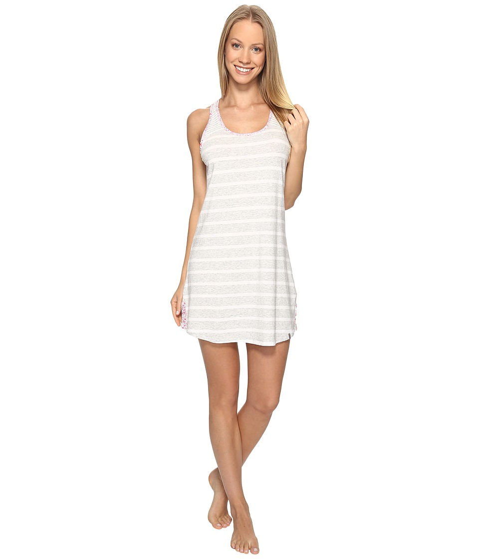 Jane & Bleecker - Jersey Chemise 3521300 (Light Heather Grey Small Twin Stripe) Women's Pajama