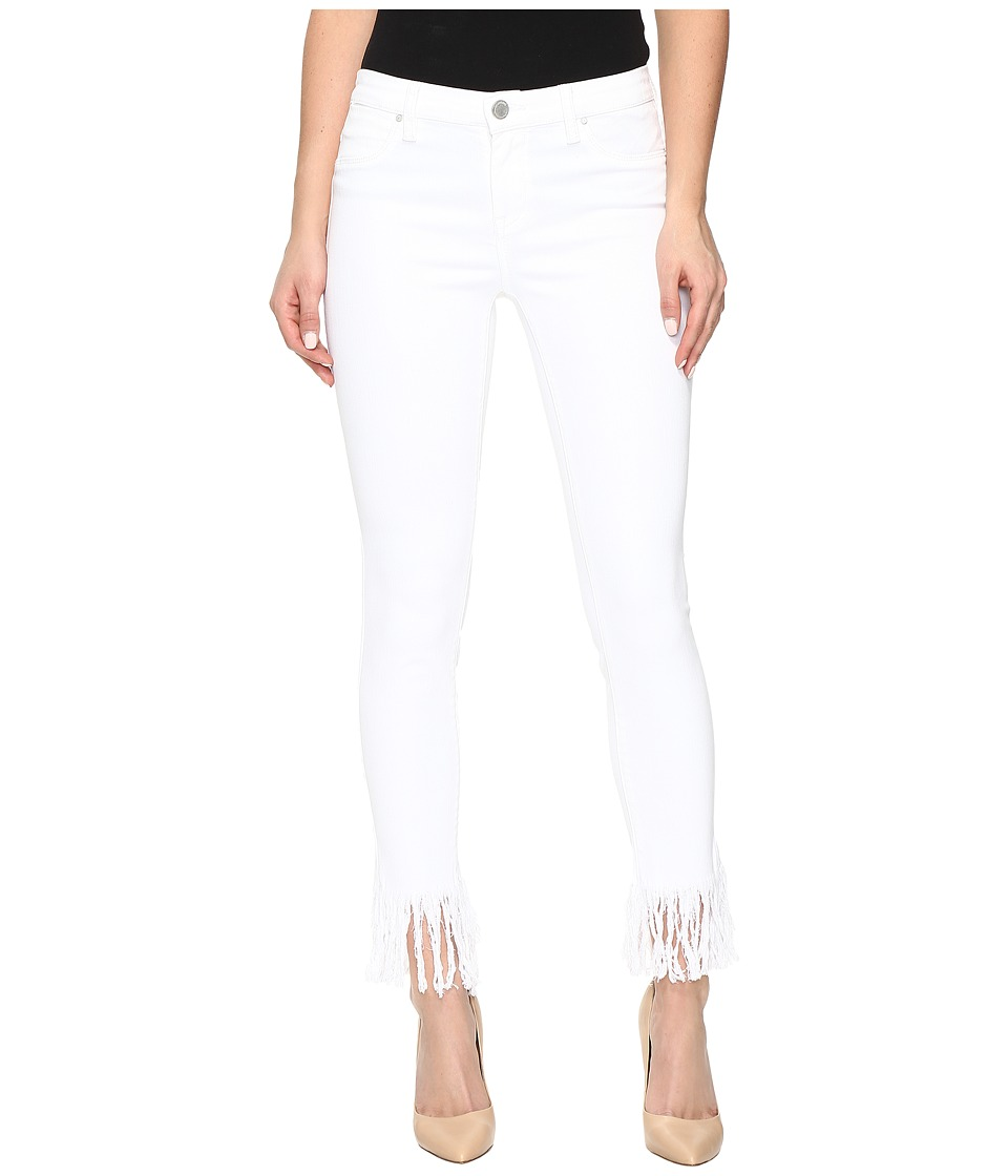 Blank NYC - Released Hem/Fray White Crop Skinny in White Lines (White Lines) Women's Jeans