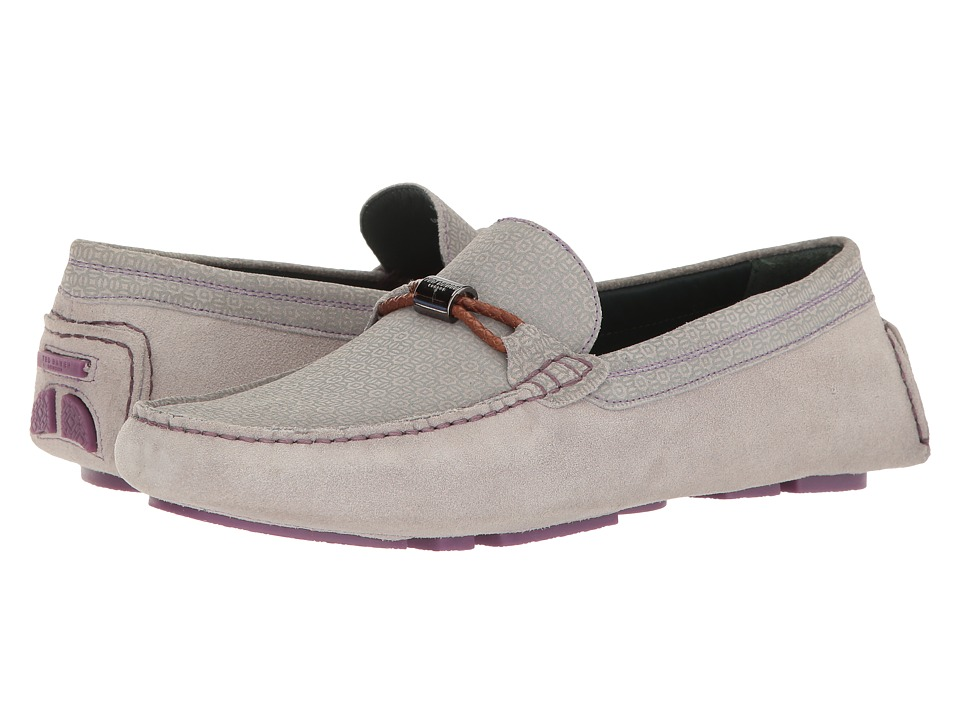 Ted Baker - Carlsun 2 (Light Grey/Multi Suede) Men's Slip on Shoes