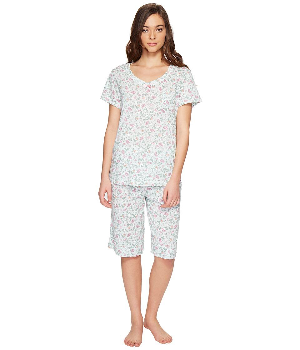 Carole Hochman - Knit Bermuda PJ (Flower Toss) Women's Pajama Sets
