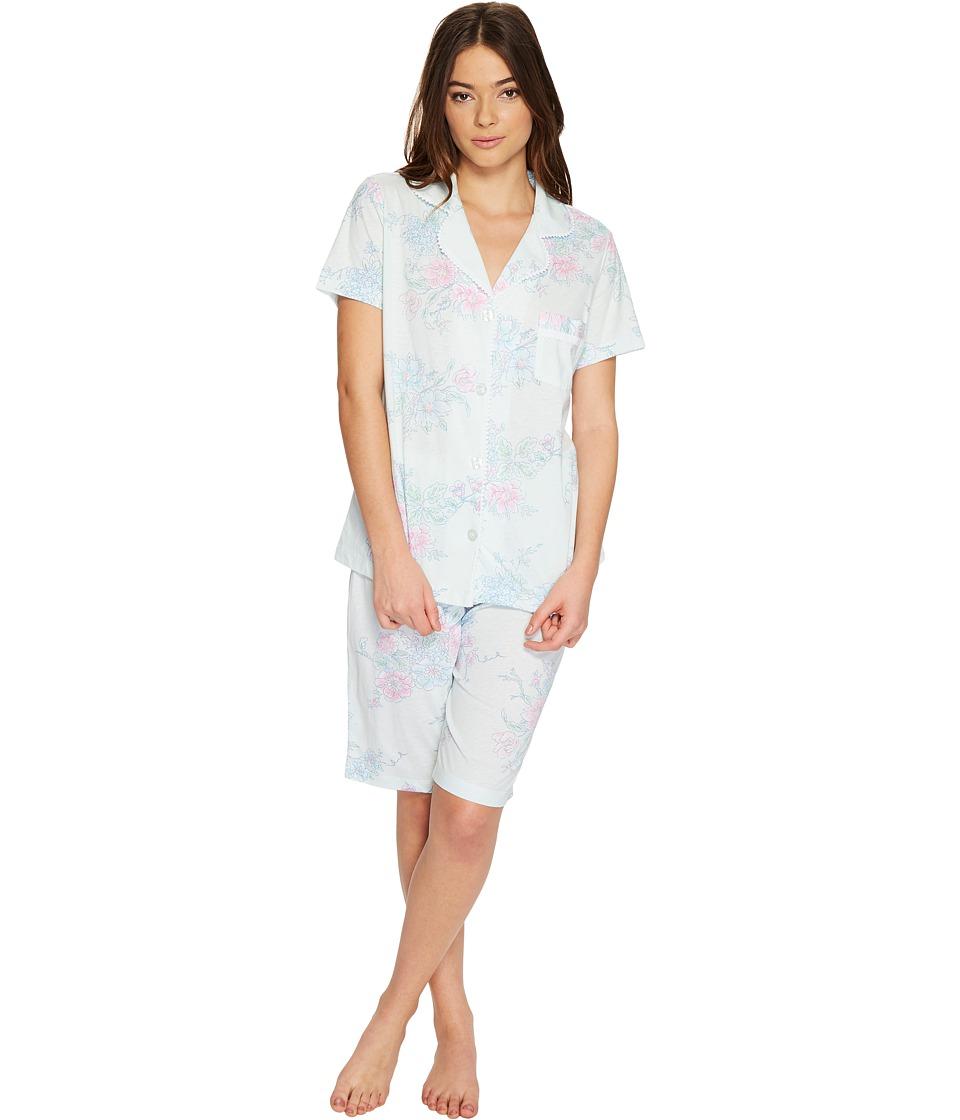Carole Hochman - Bermuda PJ Set (Sketch Floral) Women's Pajama Sets