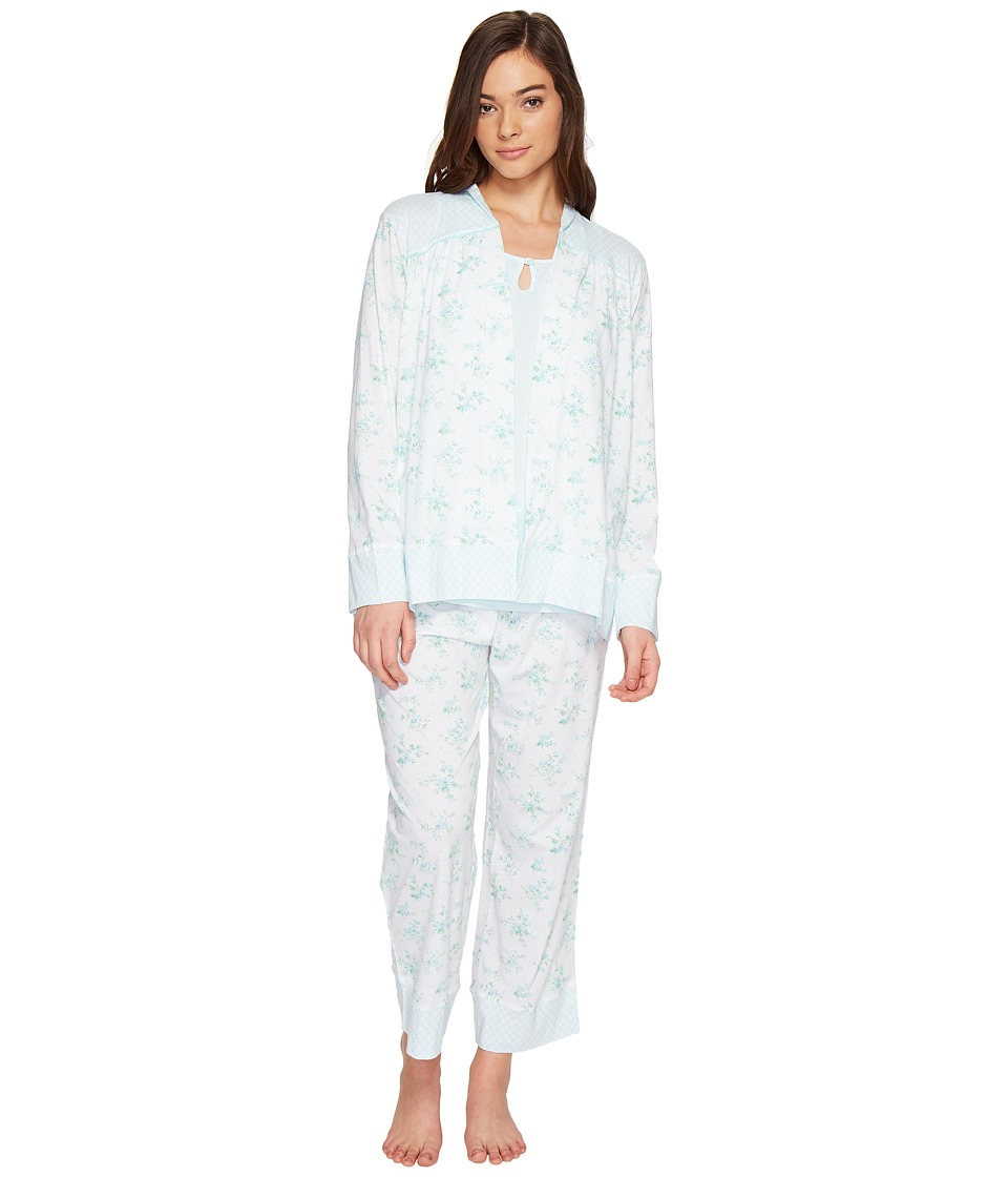 Carole Hochman - Three-Piece Cotton PJ Set (Chintz Floral) Women's Pajama Sets