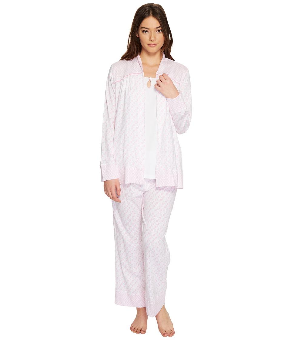 Carole Hochman - Three-Piece Cotton PJ Set (Flower Field) Women's Pajama Sets