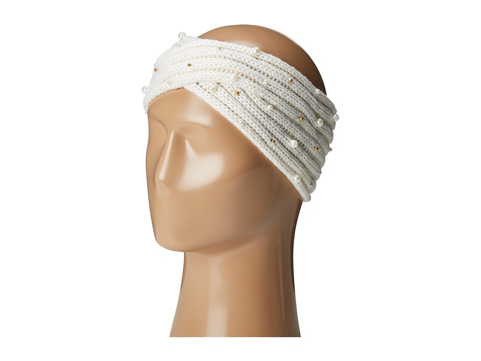 Betsey Johnson - Crazy For Pearl Headband (Ivory) Headband