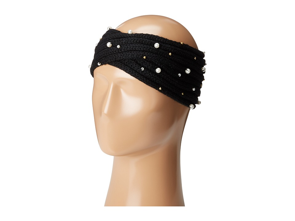 Betsey Johnson - Crazy For Pearl Headband (Black) Headband