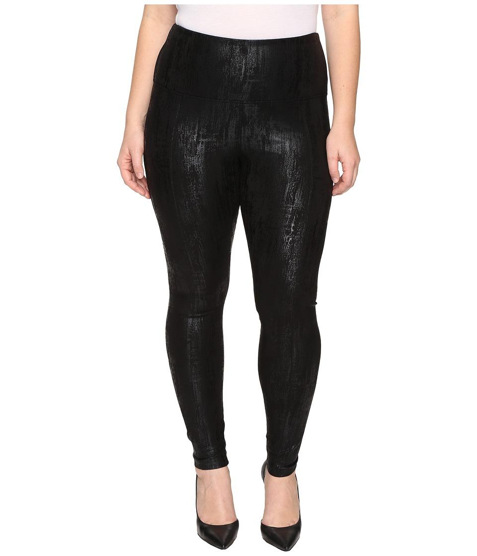 Lysse - Plus Size Center Seam Ponte Leggings (Liquid Black) Women's Casual Pants