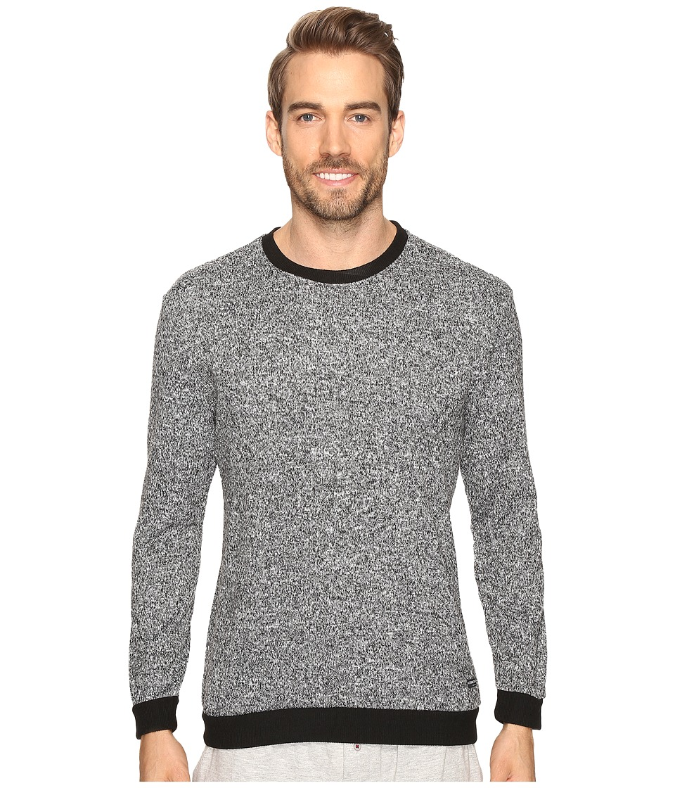 Kenneth Cole Reaction - Sleep Crew Long Sleeve (Black Marled) Men's Pajama