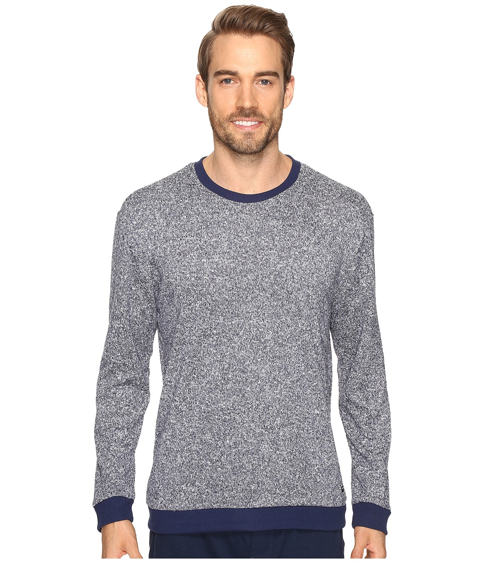 Kenneth Cole Reaction - Sleep Crew Long Sleeve (Navy Marled) Men's Pajama