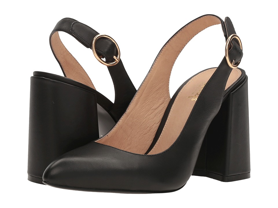 Shellys London - Chester (Black Leather) High Heels