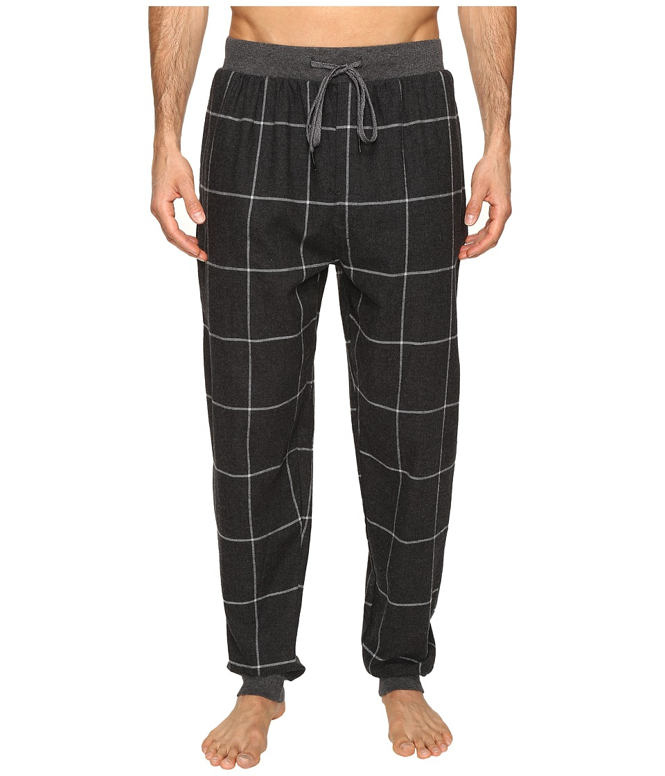Kenneth Cole Reaction - Banded Flannel Pants (Dark Grey Heather) Men's Pajama