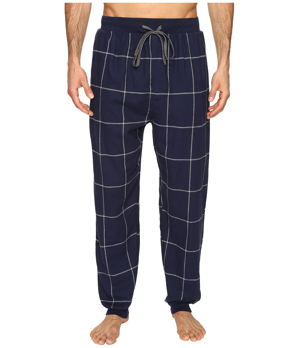 Kenneth Cole Reaction - Banded Flannel Pants (Navy) Men's Pajama