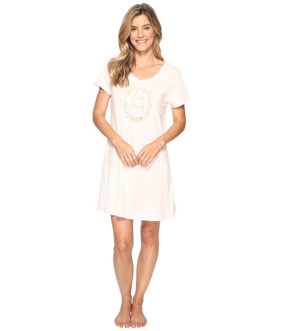 Carole Hochman - Knit Graphic Sleepshirt (Elegant Pink) Women's Pajama