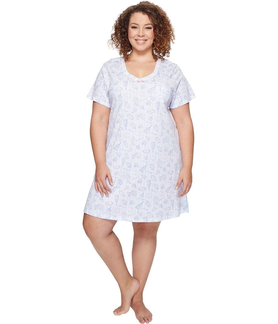 Carole Hochman - Plus Size Knit Sleepshirt (Girls Night) Women's Pajama