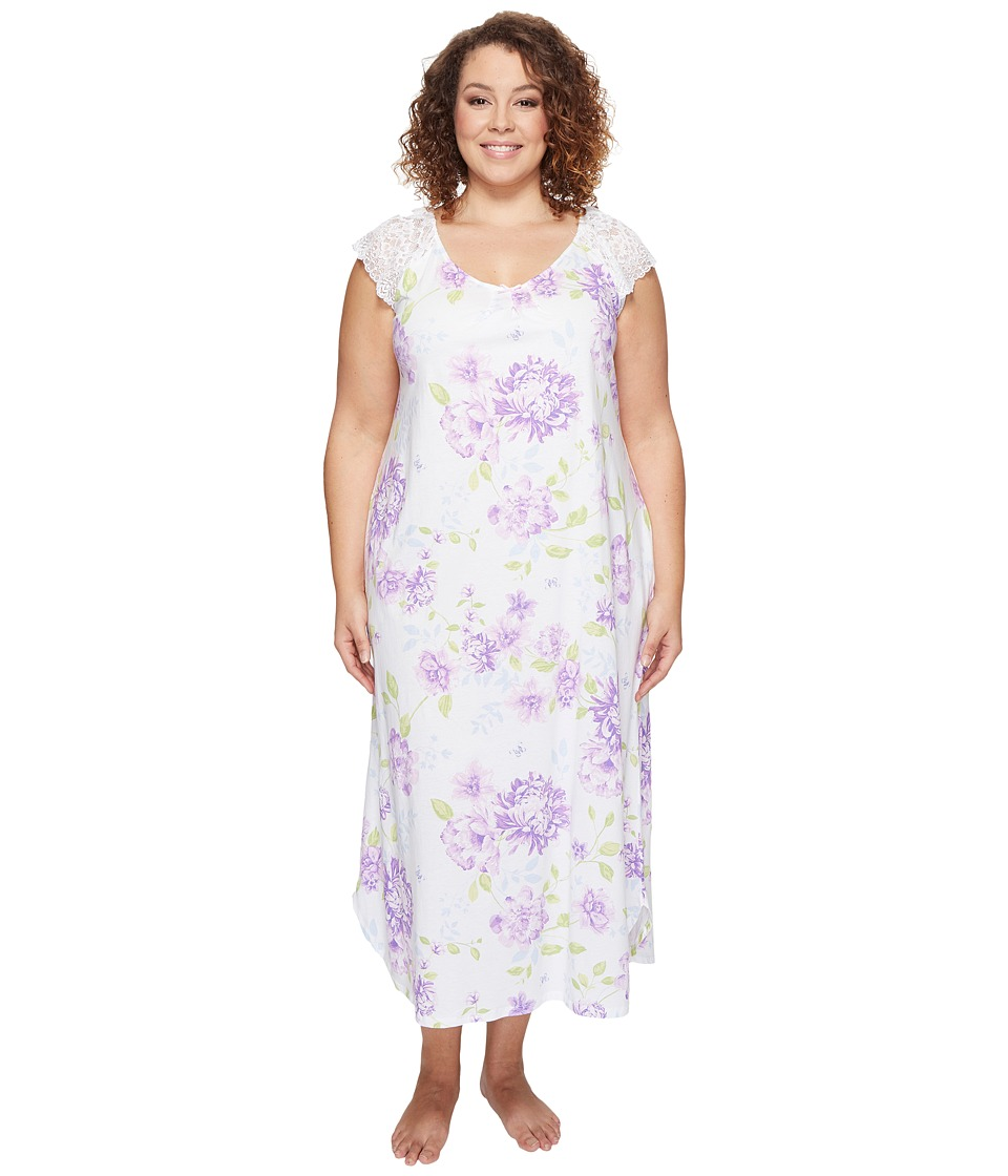 Carole Hochman - Plus Size Long Gown (Glory Floral) Women's Pajama