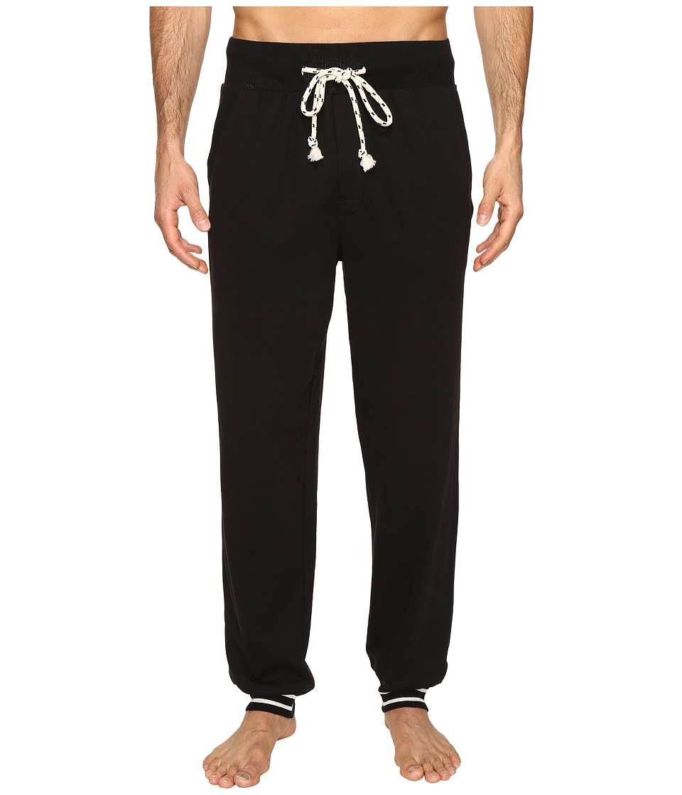 Kenneth Cole Reaction - Sleep Pants - Cuffed Bottom (Black) Men's Pajama
