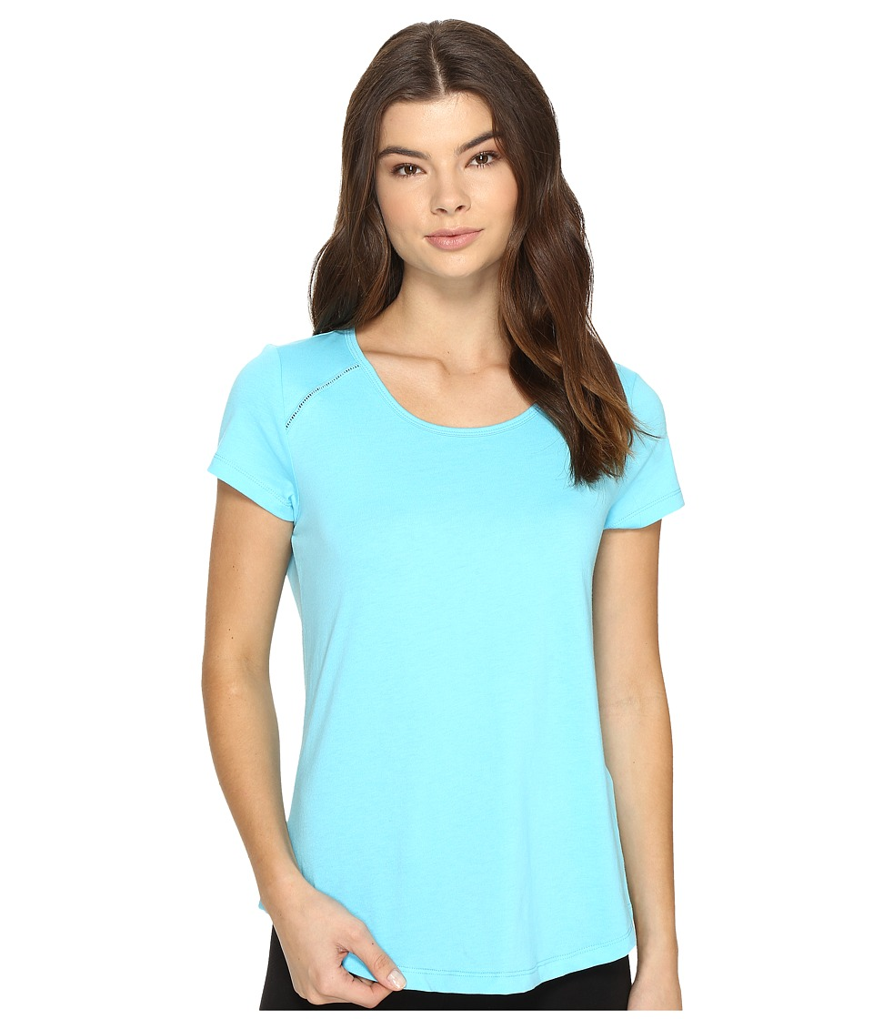 Jockey - Short Sleeve Top (Aqua) Women's Pajama