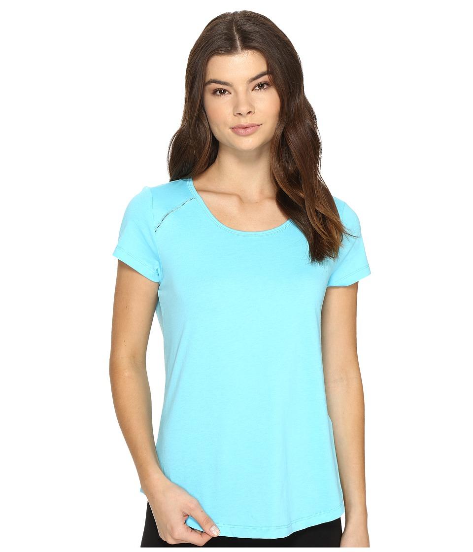 Jockey - Short Sleeve Top (Aqua) Women