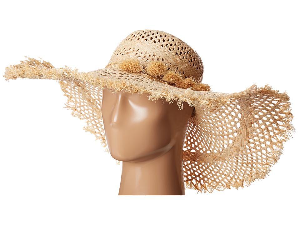 LAUREN Ralph Lauren - Frayed Sun Hat w/ Tassels (Natural) Caps