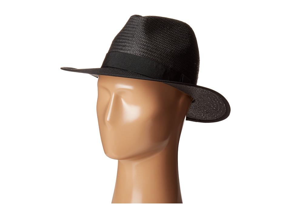 LAUREN Ralph Lauren - Classic Fedora (Black/Black) Fedora Hats