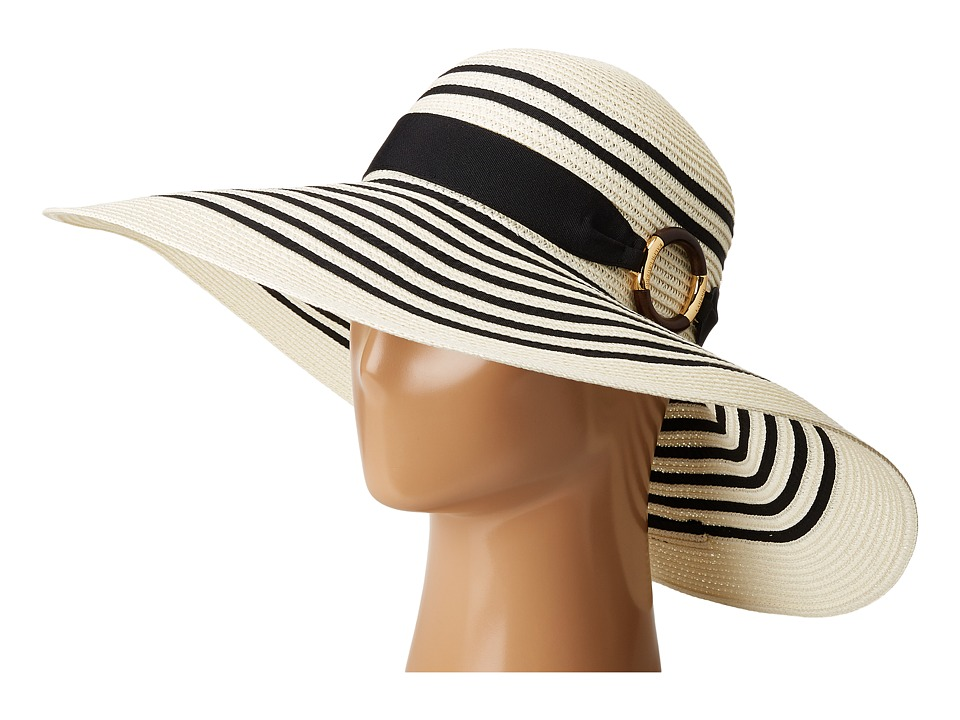 LAUREN Ralph Lauren - Bright Natural Sun Hat (Cream/Black) Caps