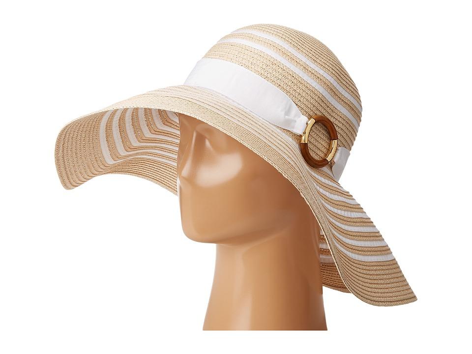 LAUREN Ralph Lauren - Bright Natural Sun Hat (Natural/White) Caps