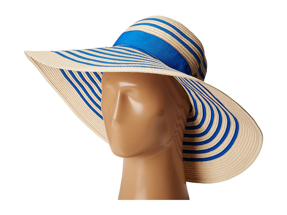 LAUREN Ralph Lauren - Bright Natural Sun Hat (Natural/Royal) Caps