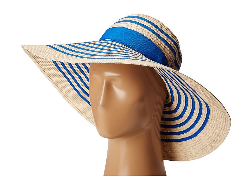 LAUREN Ralph Lauren - Bright Natural Sun Hat (Natural/Royal) Caps