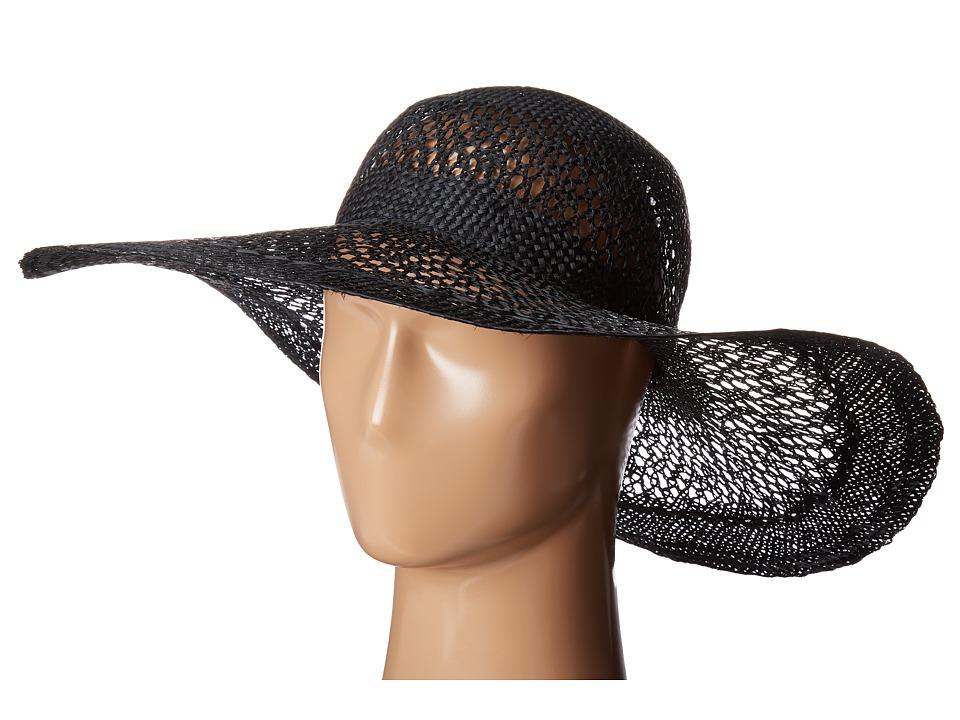 LAUREN Ralph Lauren - Sisal Eyelet Sun Hat (Black) Caps