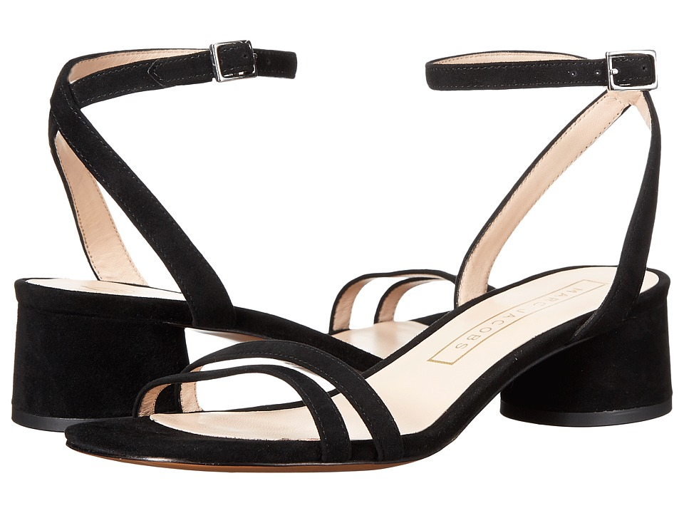 Marc Jacobs Olivia Strap Sandal (Black Suede) Women
