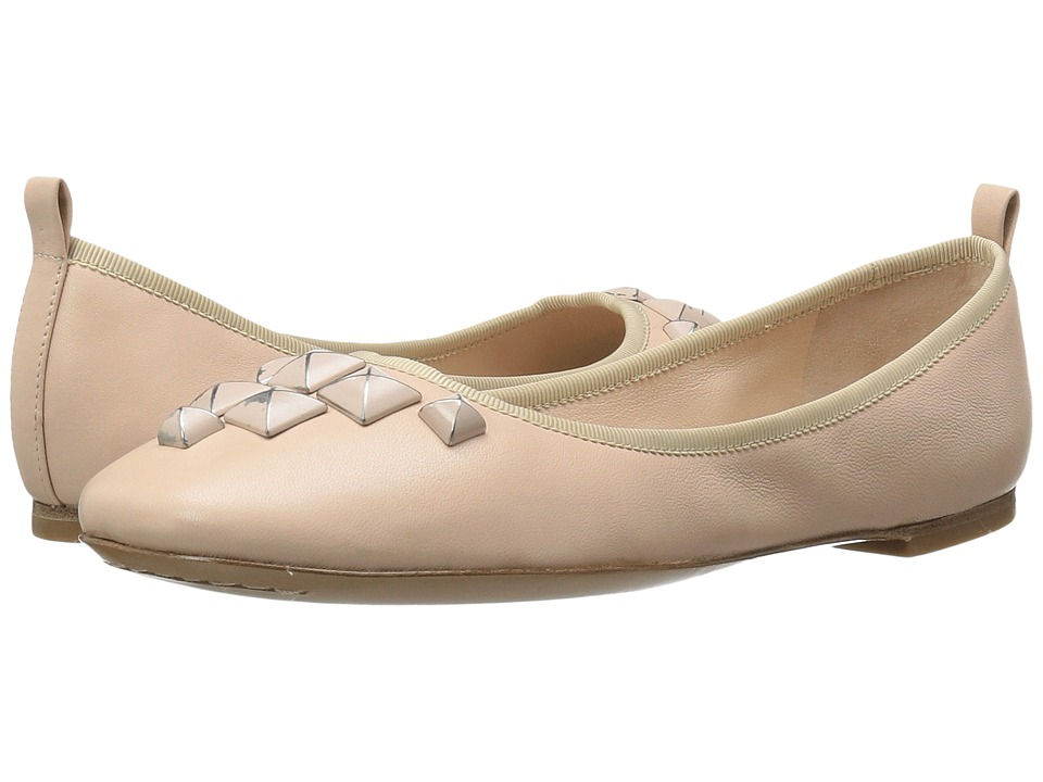 Marc Jacobs - Cleo Studded Ballerina (Nude Leather) Women's Ballet Shoes