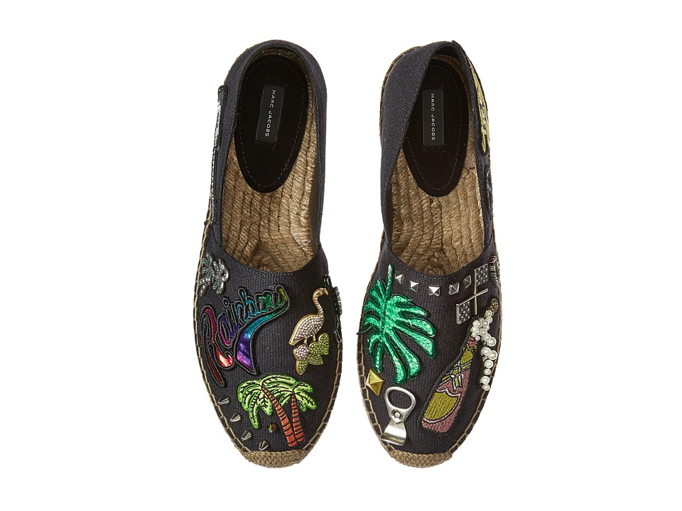 Marc Jacobs - Sienna Flat Espadrille (Black Multi Cotton) Women's Flat Shoes