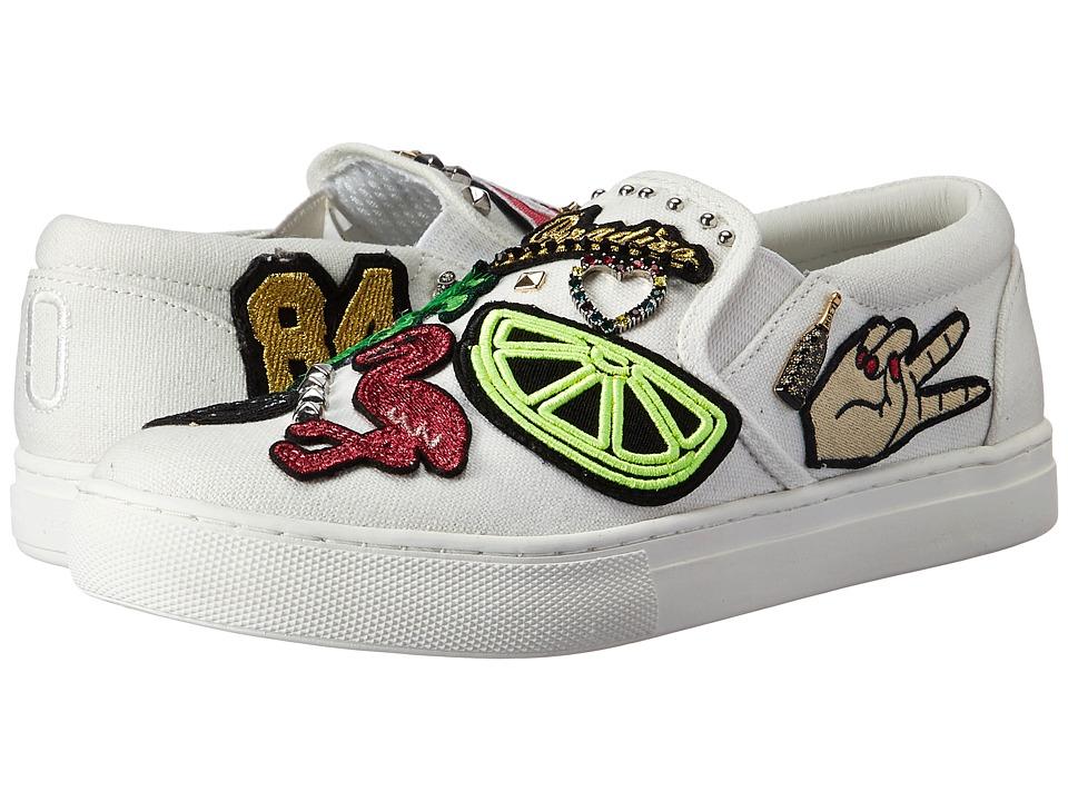 Marc Jacobs - Mercer Slip-On Sneaker (White Multi Cotton) Women's Slip on Shoes