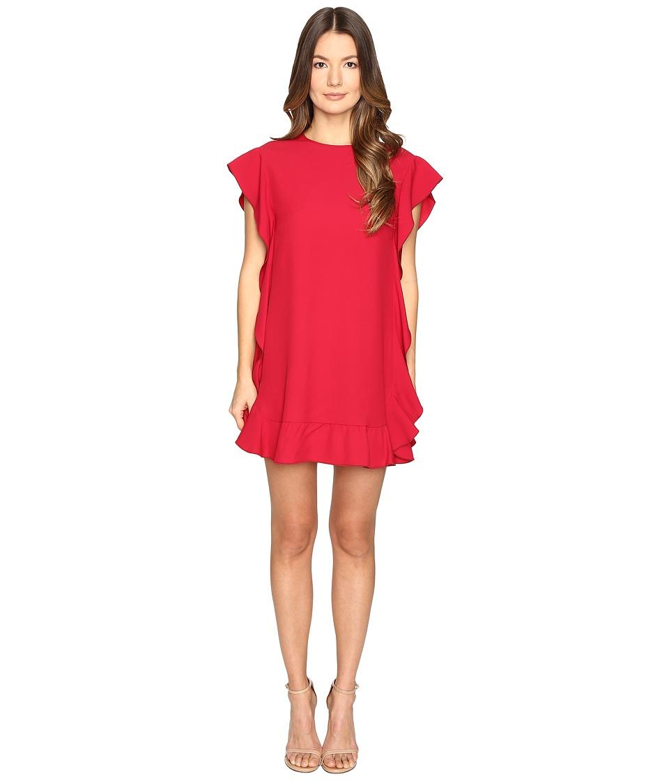 RED VALENTINO - Crepe Envers Satin Dress (Ibisco) Women's Dress