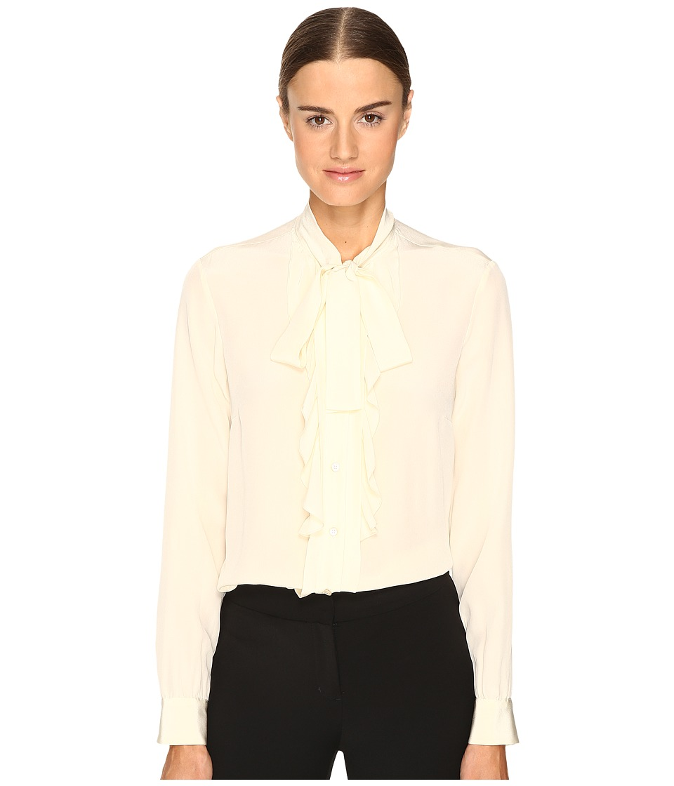 RED VALENTINO - Silk Crepe De Chine Blouse (Panna) Women's Blouse