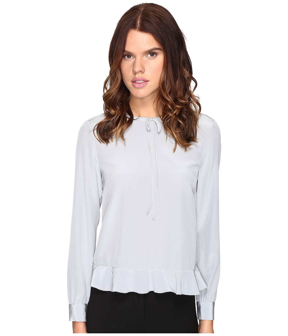 RED VALENTINO - Silk Crepe De Chine Blouse (Alluminio) Women's Blouse