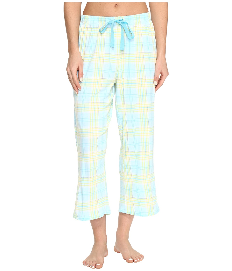Jockey Printed Capri Pants (Gracious Plaid) Women