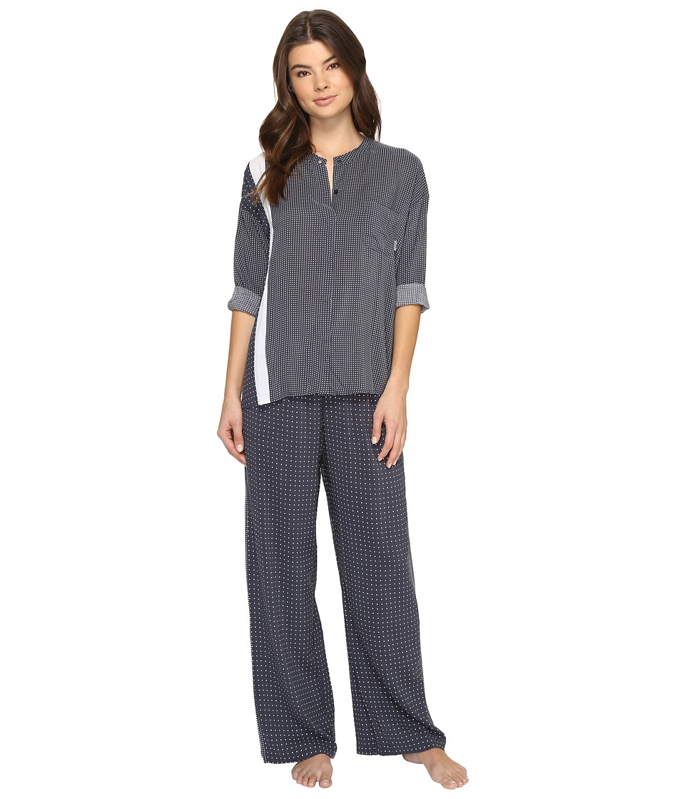DKNY - Long Sleeve Top Pants Set (Grey Dot) Women's Pajama Sets