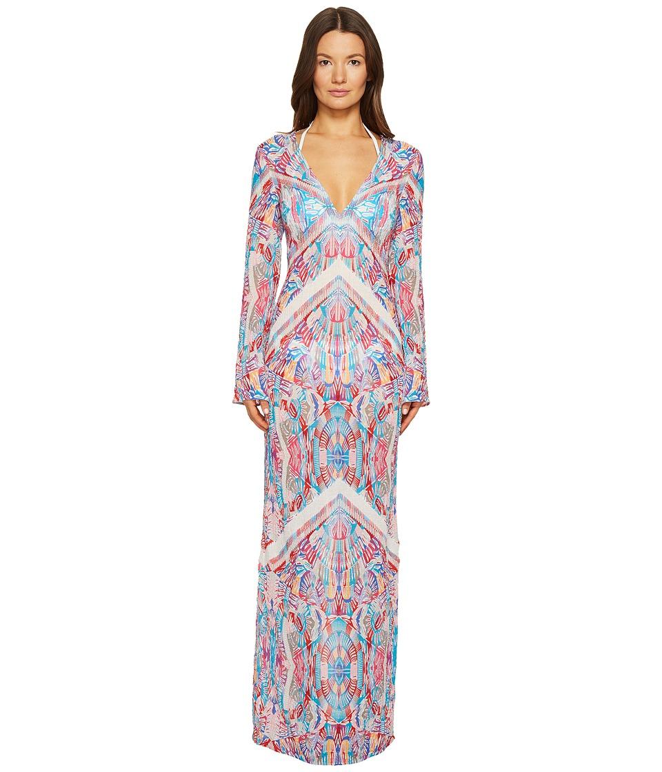 La Perla Free Spirit Long Sleeve Long Dress (Mosaic Print) Women