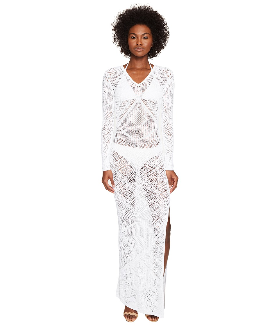 La Perla - Beyond The Beach Long Sleeve Dress (White) Women's Swimwear