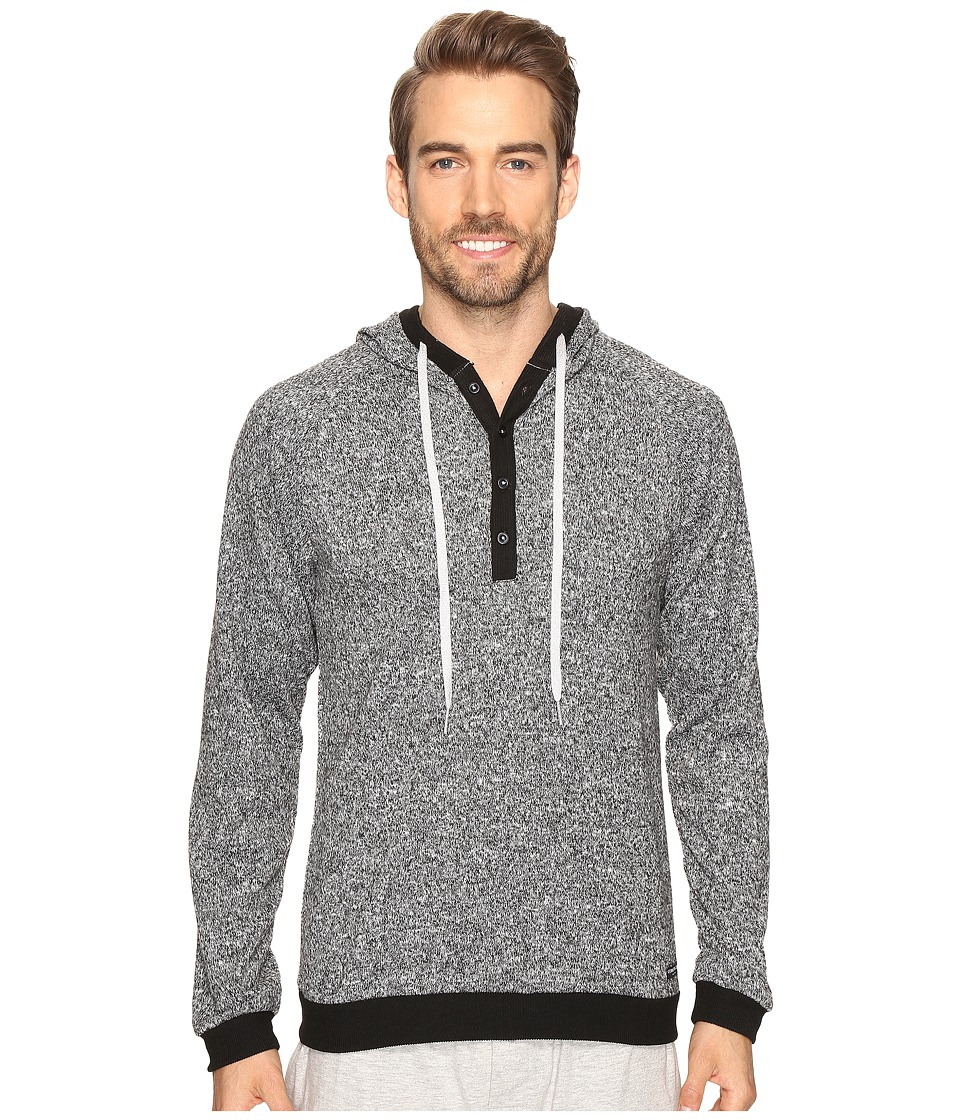 Kenneth Cole Reaction - Sleep Hoodie (Black Marled) Men's Pajama