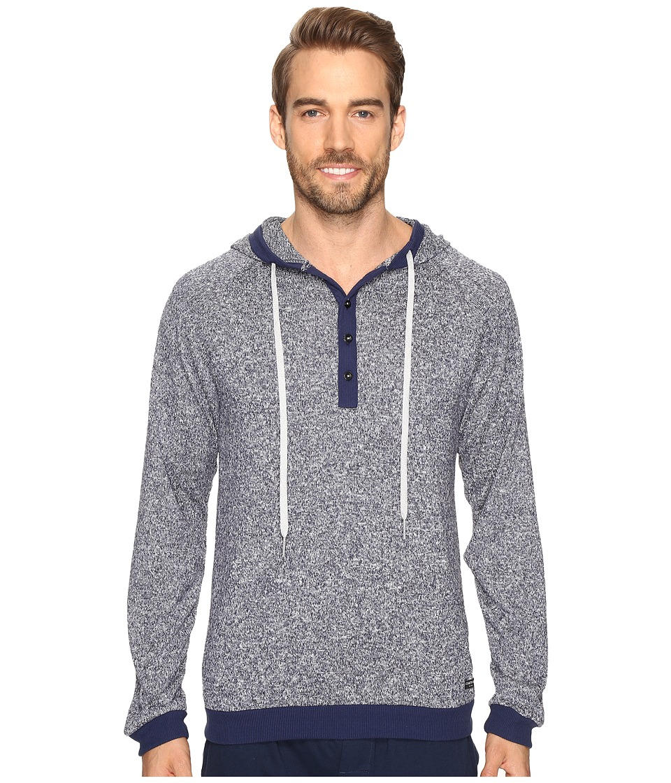 Kenneth Cole Reaction - Sleep Hoodie (Navy Marled) Men's Pajama
