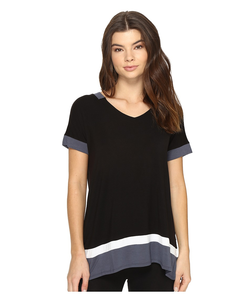 DKNY - Short Sleeve Lounge Tee (Black) Women's Pajama
