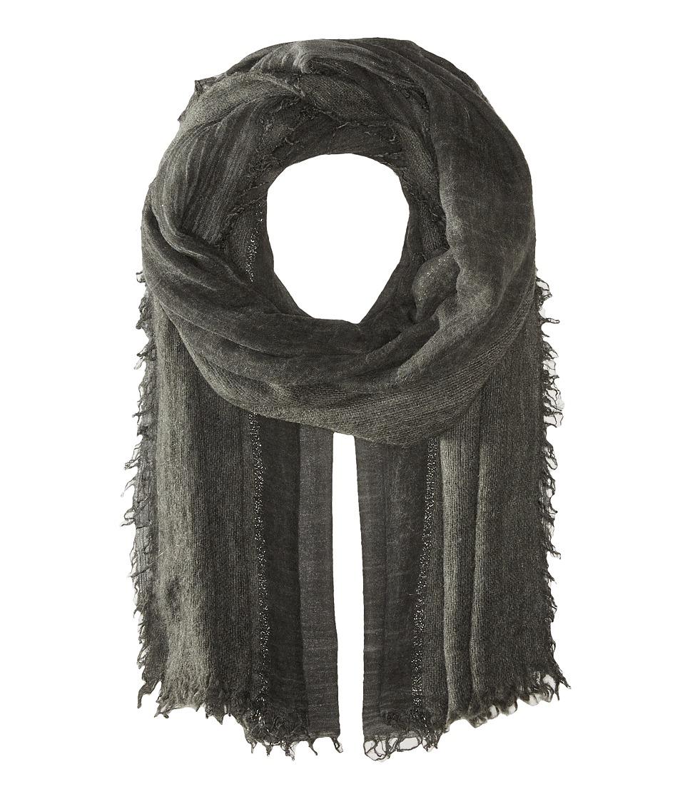 LAUREN Ralph Lauren - Tessa Modal Wool Blended Scarf (Black) Scarves