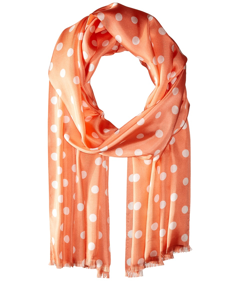 LAUREN Ralph Lauren - Michelle Silk Twill Scarf (Soft Peach) Scarves