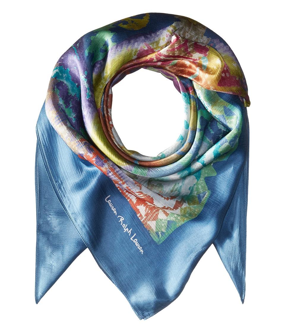 LAUREN Ralph Lauren - Paloma Silk Scarf (Denim Blue) Scarves