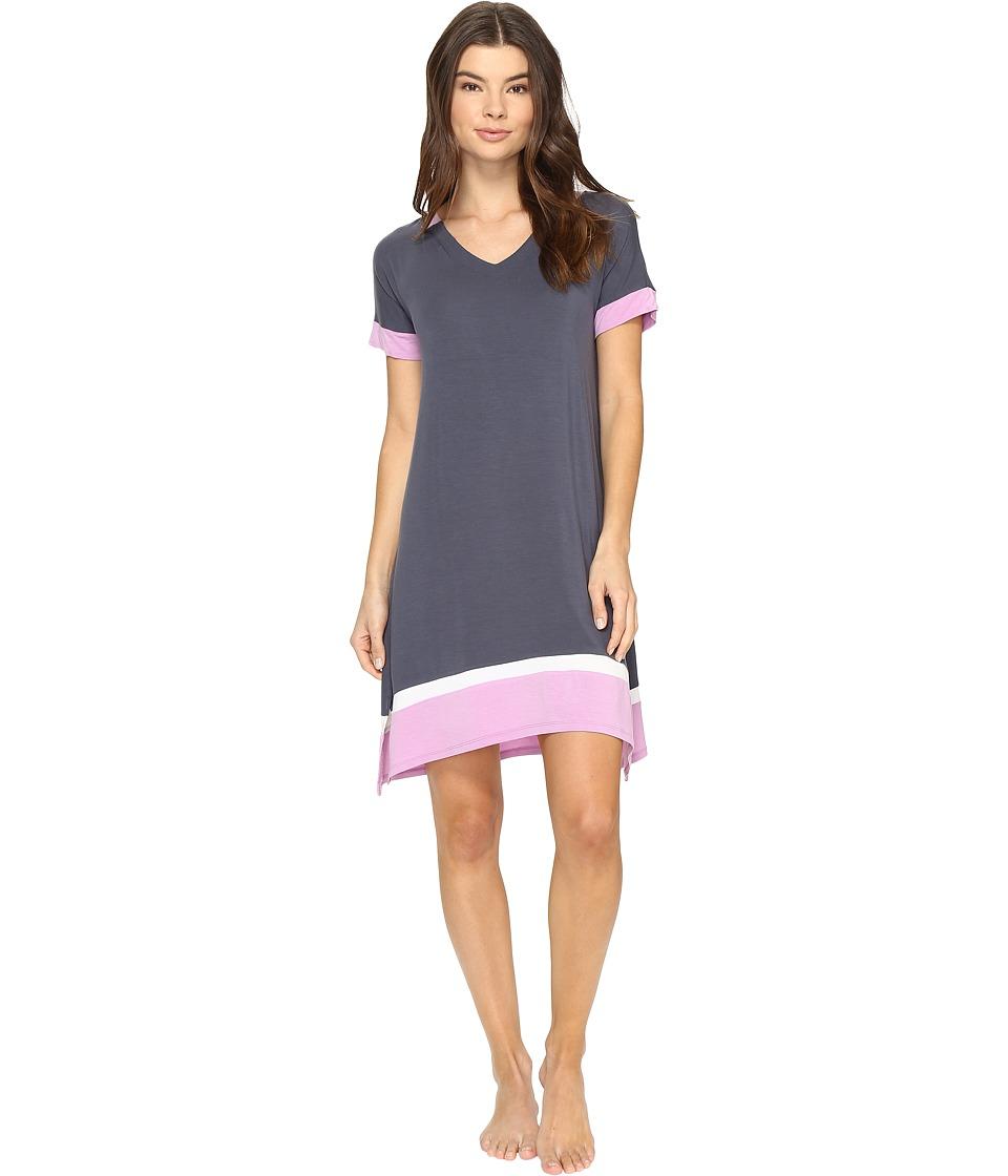 DKNY - Short Sleeve Sleepshirt (Grey Heather) Women's Pajama