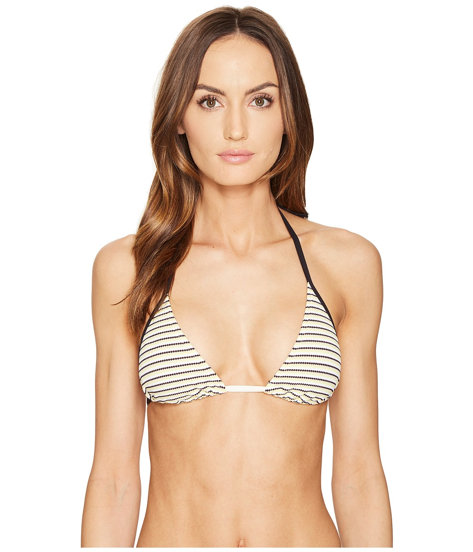 La Perla - Daylight Stripe Triangle Top (Yellow) Women's Swimwear