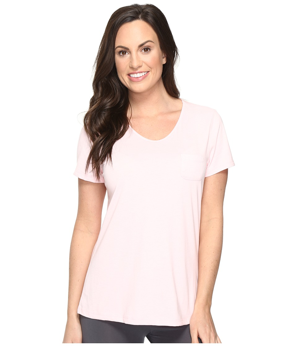 Jockey - Short Sleeve Tee (Powder Pink) Women's Pajama