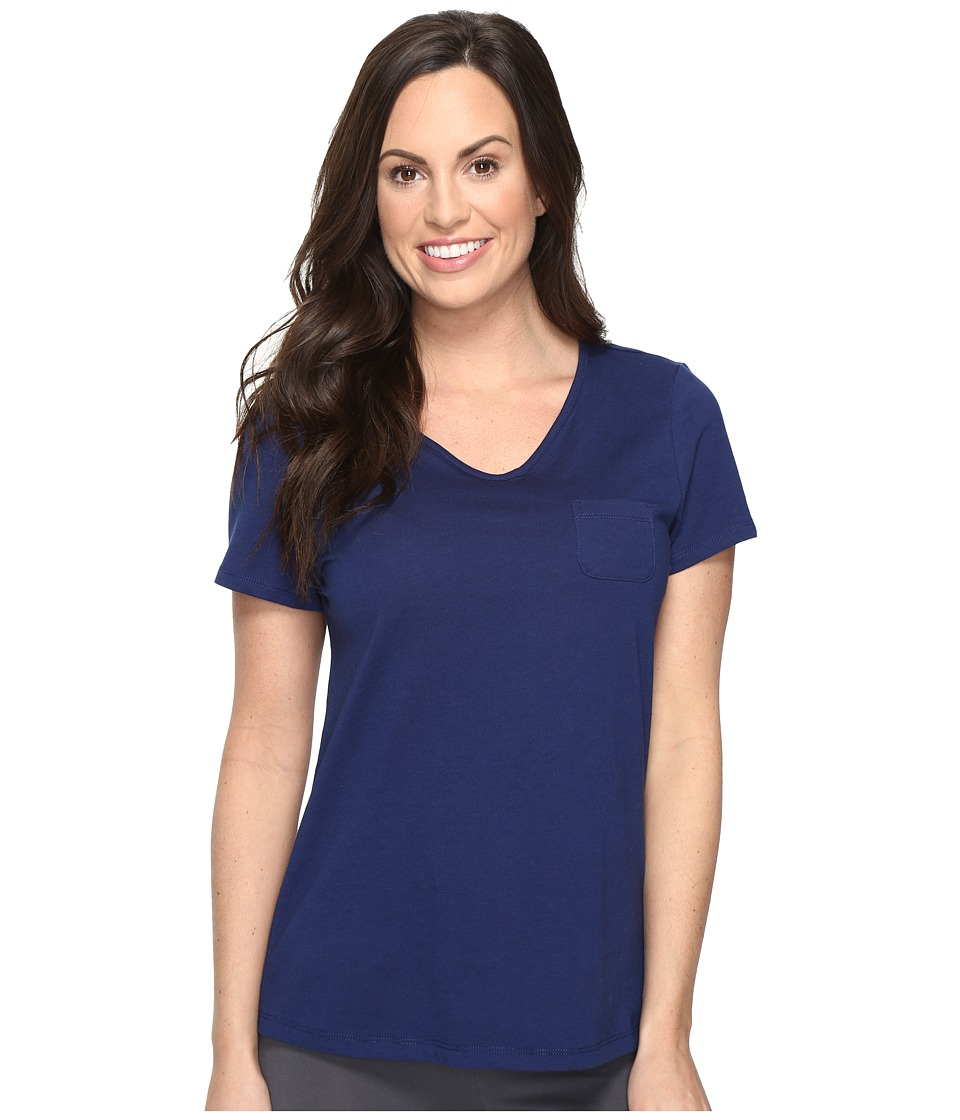 Jockey - Short Sleeve Tee (Galaxy Blue) Women's Pajama