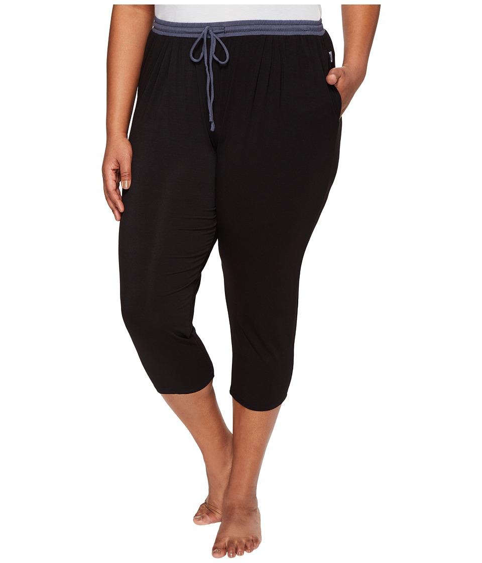 DKNY - Plus Size Cropped Pants (Black) Women's Pajama